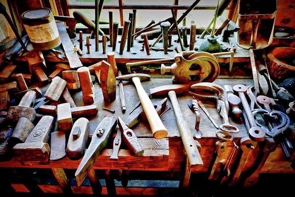 Photograph - Boat Building Tools by Joan Reese