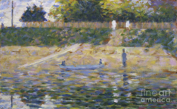 Wall Art - Painting - Boat By The Riverbank, Circa 1883 by Georges Pierre Seurat
