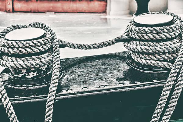 Raft Wall Art - Photograph - Boat Detail Retro by Mihaela Pater