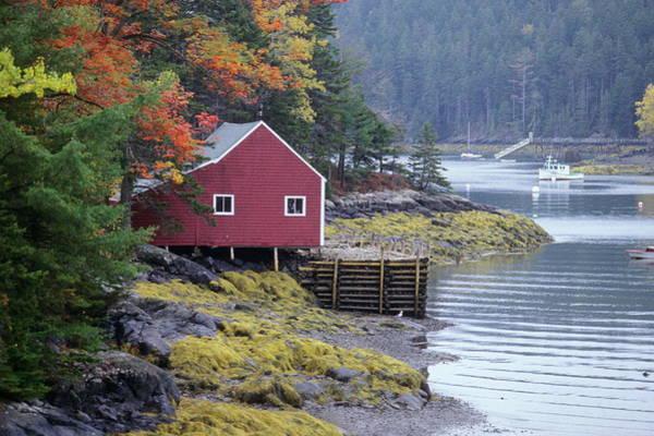 Stonington Photograph - Boat House, Deer Island by Franz Marc Frei