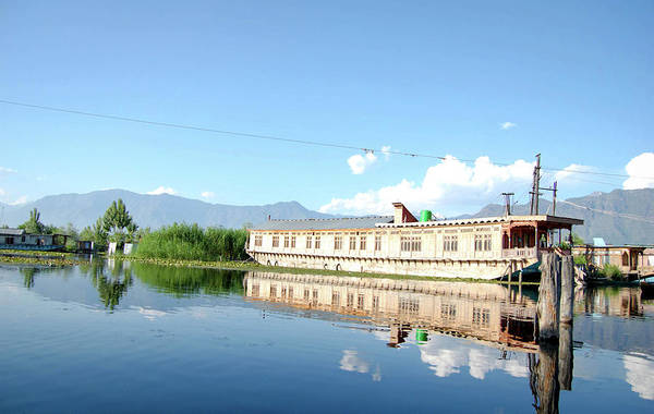 Dal Lake Photograph - Boat Houses On Dal Lake In Srinagar by Selvin