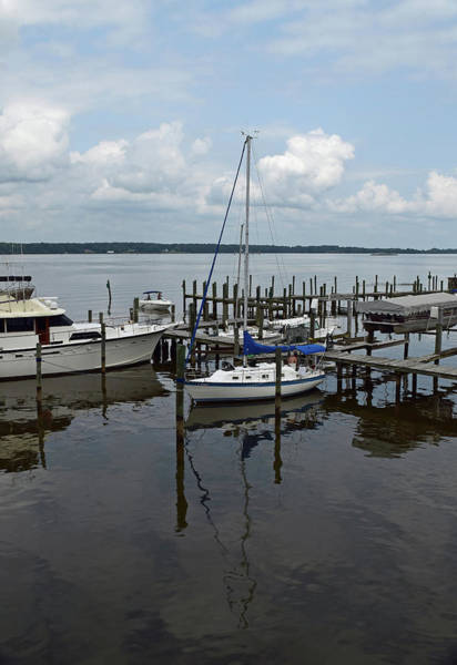 Photograph - Boat In Harbor by Karen Harrison