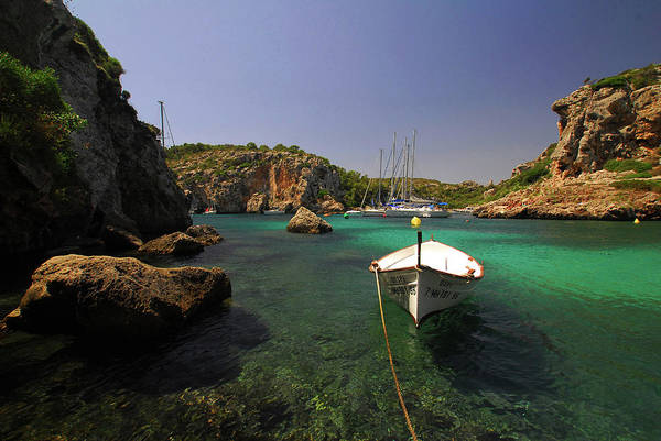 Bell Rock Photograph - Boat In Sea by Antonio Bellón