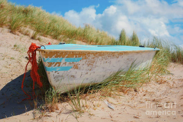 Photograph - Boat In The Dune - Texel by Angela Doelling AD DESIGN Photo and PhotoArt