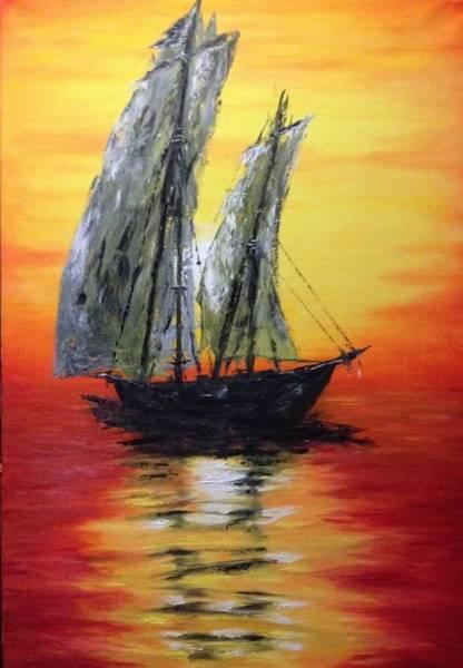 Wall Art - Painting - Boat by Maria Buzatu
