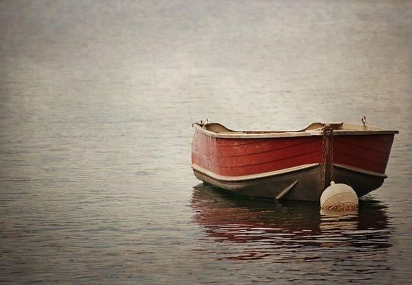 Wall Art - Photograph - Boat Of Caldonazzo by Lotte Grønkjær