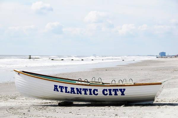 Surf City Usa Photograph - Boat On Atlantic City Beach by Ogphoto