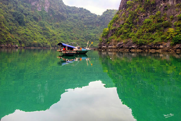 Wall Art - Photograph - Boat On Halong Bay 2, Vietnam by Madeline Ellis