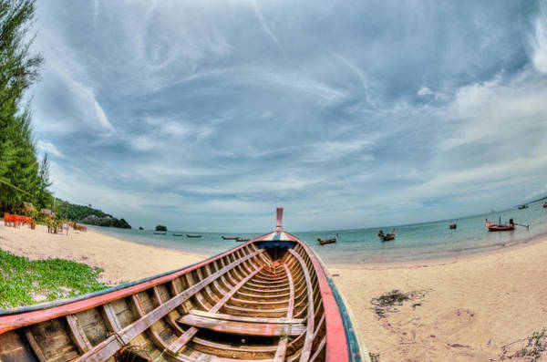 Fish Eye Lens Photograph - Boat On Nai Yang Beach by Design Pics / Stuart Corlett