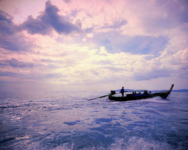 Wall Art - Photograph - Boat On Ocean by Sharon Lapkin