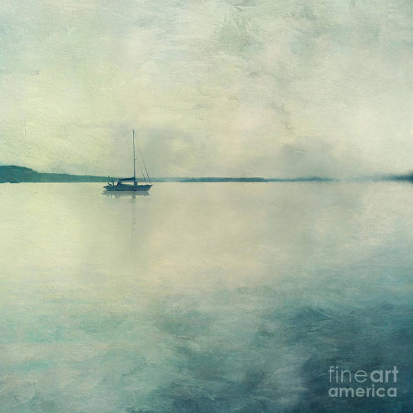 Wall Art - Photograph - Boat On Quiet Sea by Priska Wettstein