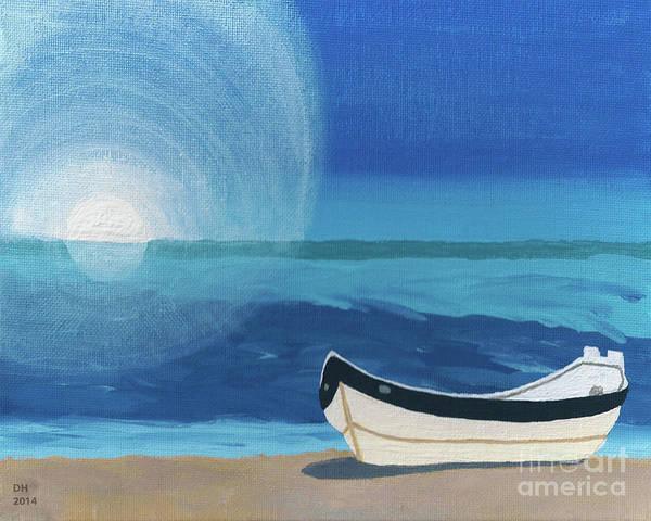 Boat On The Beach Art Print