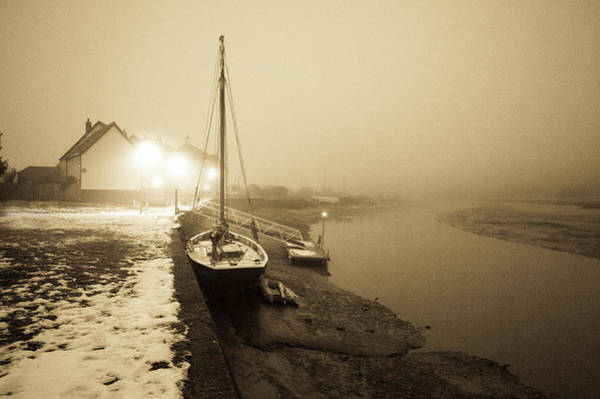 Photograph - Boat On Wintry Quay by Gary Eason