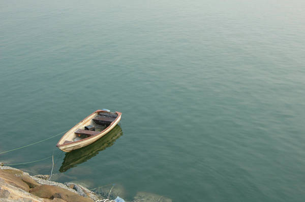 Wall Art - Photograph - Boat Over The Sea by Bluekite