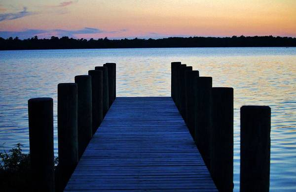 Photograph - Boat Pier At Sunset by Cynthia Guinn
