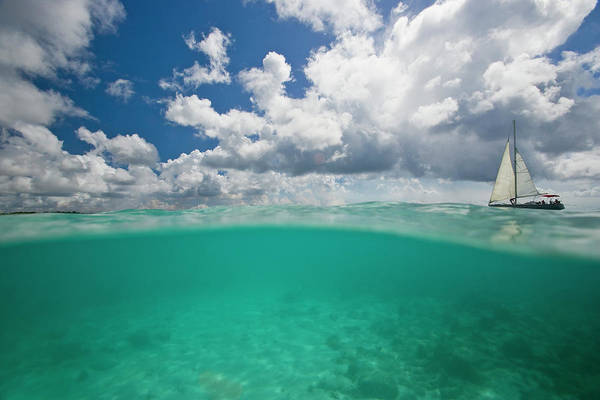 Wall Art - Photograph - Boat Sailing In Tropical Waters by Michael Melford