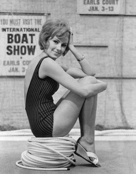 1961 Photograph - Boat Show Fashion by Fox Photos