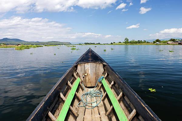 Raft Photograph - Boat Trip On Inle Lake by Hadynyah