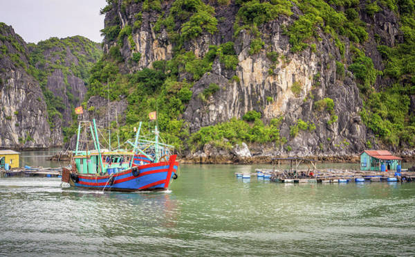 Photograph - Boat Vietnam by Gary Gillette