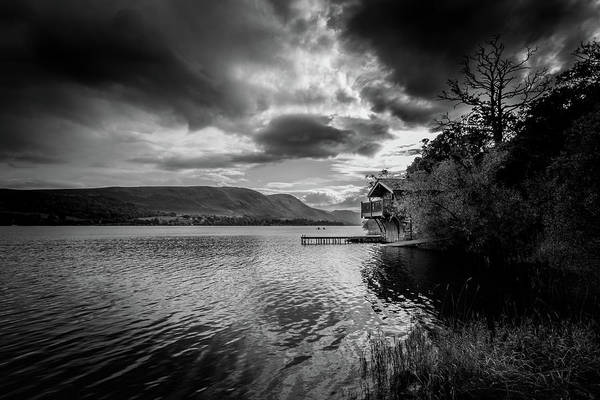Pooley Bridge Wall Art - Photograph - Boathouse  by Chris Smith