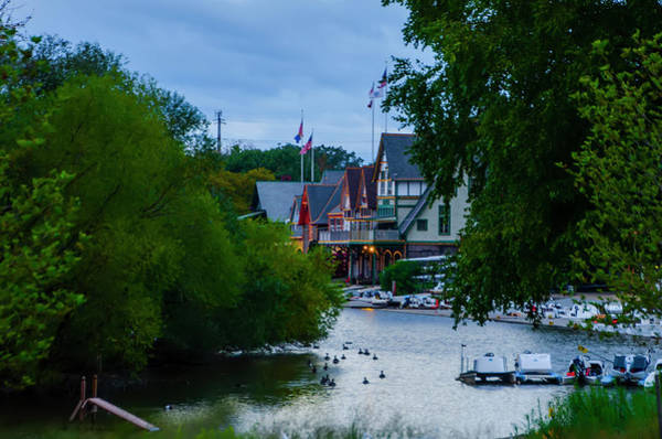 Photograph - Boathouse Row In Philadelphia - October Morning by Bill Cannon