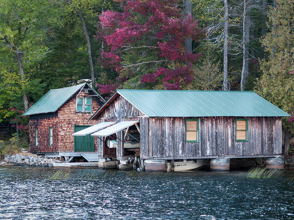Photograph - Boathouse by Stewart Helberg