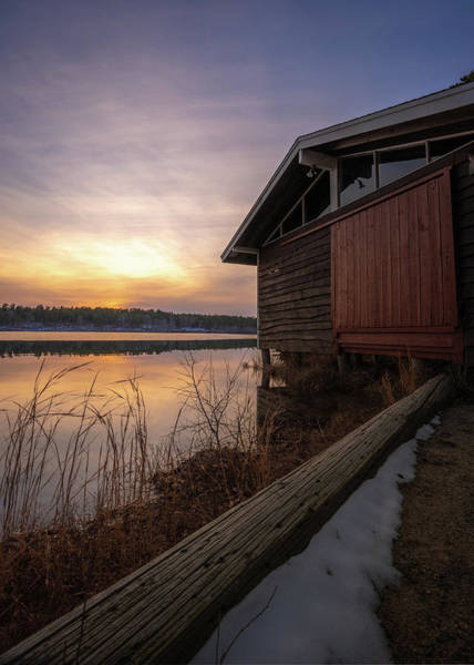 Cachalot Wall Art - Photograph - Boathouse Sunset, Winter 2019 by Dennis Wilkinson