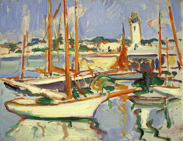 Wall Art - Painting - Boats At Royan, 1910 by Samuel John Peploe