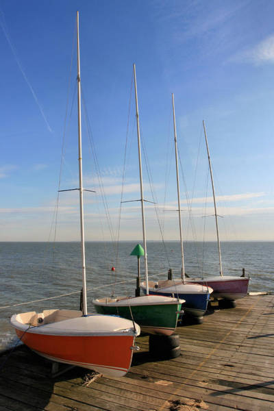Southend Photograph - Boats At Sea by M D Baker