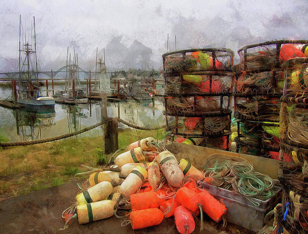Photograph - Boats Bumpers Crab Rings And Rope by Thom Zehrfeld