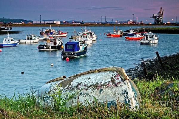 Photograph - Boats In Harbour, South Gare by Martyn Arnold