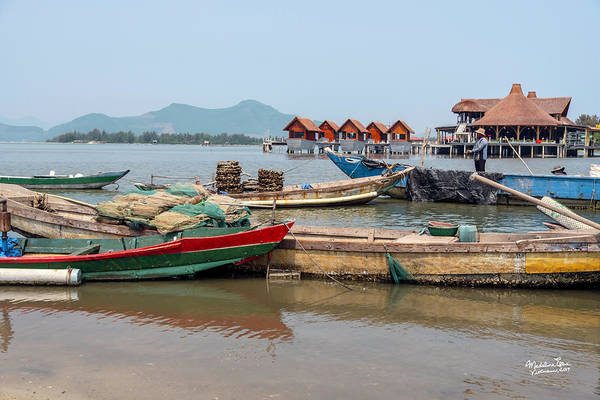 Wall Art - Photograph - Boats In Lang Co - Hue, Vietnam by Madeline Ellis