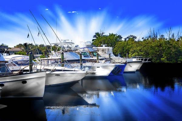 Photograph - Boats In Marina 8249 by Carlos Diaz