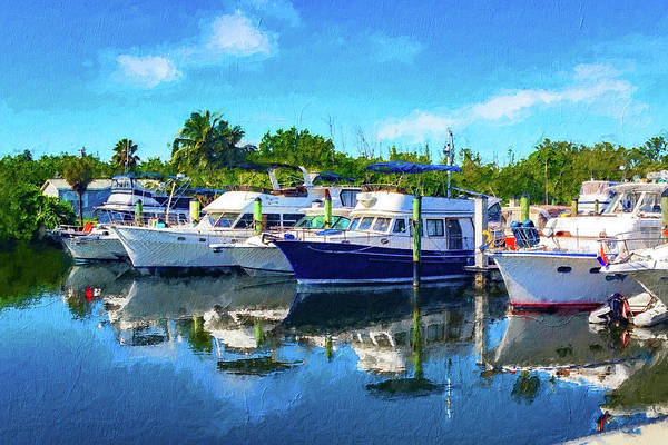 Photograph - Boats In Marina Series 8263 by Carlos Diaz