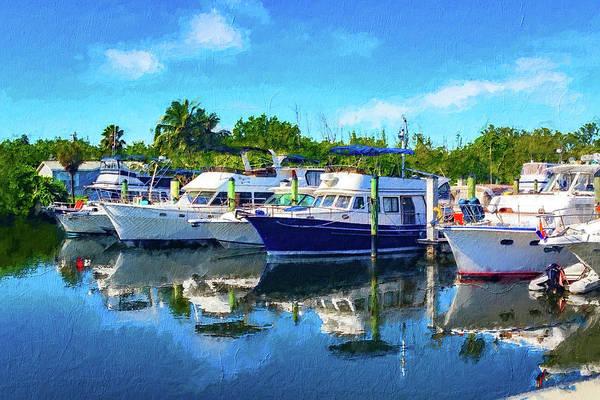 Photograph - Boats In Marina Series 8263 by Carlos Diaz