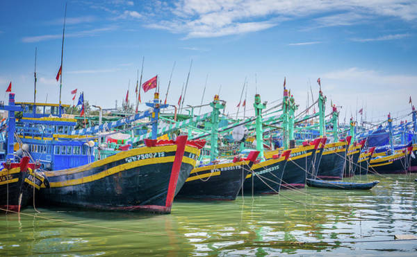 Photograph - Boats In Phan Thiet. by Gary Gillette