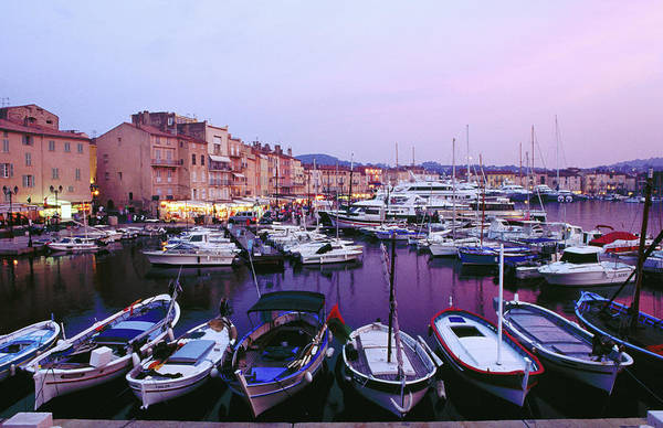 St Tropez Photograph - Boats In Port And Waterfront Buildings by Richard I'anson