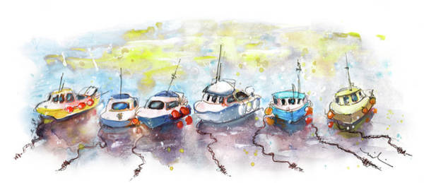 Painting - Boats In Porthleven by Miki De Goodaboom