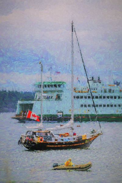 Port Townsend Painting - Boats In Puget Sound by Mike Penney