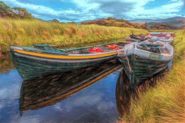 Photograph - Boats In The Countryside Painting by Debra and Dave Vanderlaan