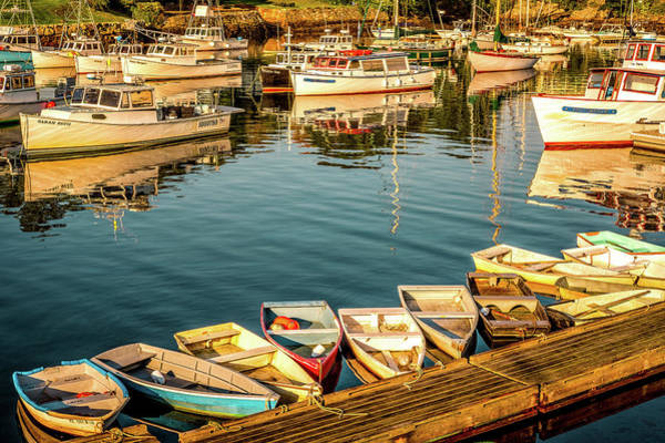 Photograph - Boats In The Cove. Perkins Cove, Maine by Jeff Sinon