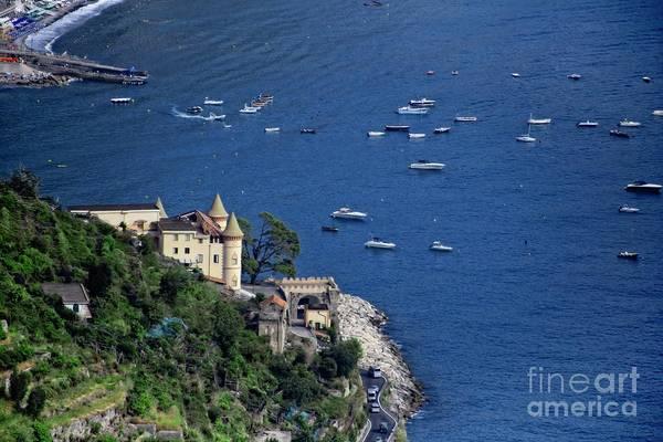 Photograph - Boats In The Harbor - Amalfi Coast by Mary Machare