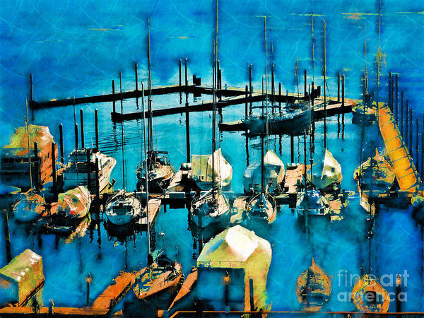 Photograph - Boats In The Harbor by Jeff Breiman