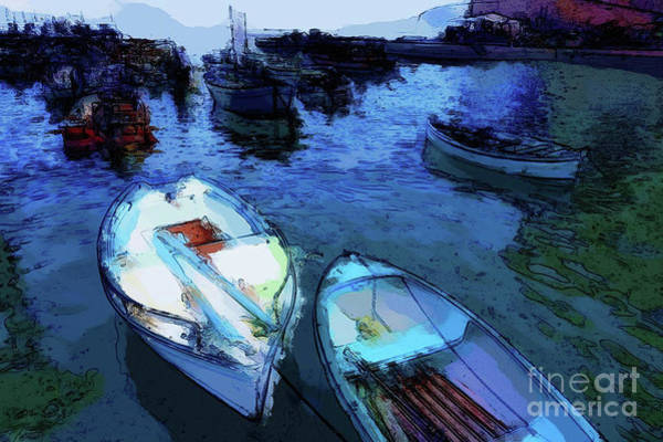 Photograph - Boats In The Harbor by Mary Machare