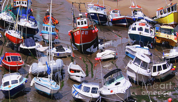 Painting - Boats In The Harbor - Twisted by Sue Harper