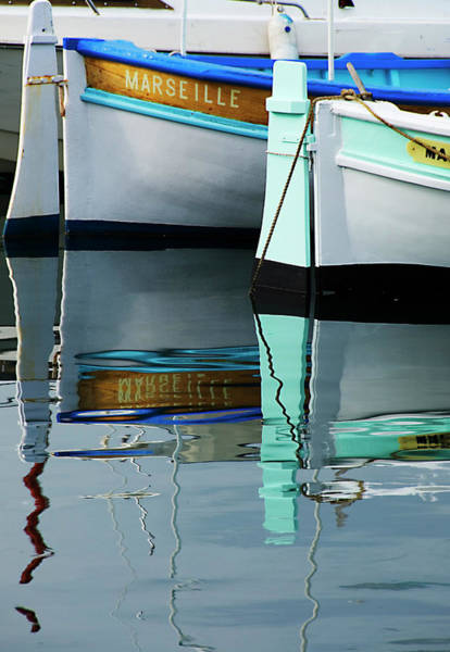 Photograph - Boats Moored At Vieux Port by Glenn Beanland