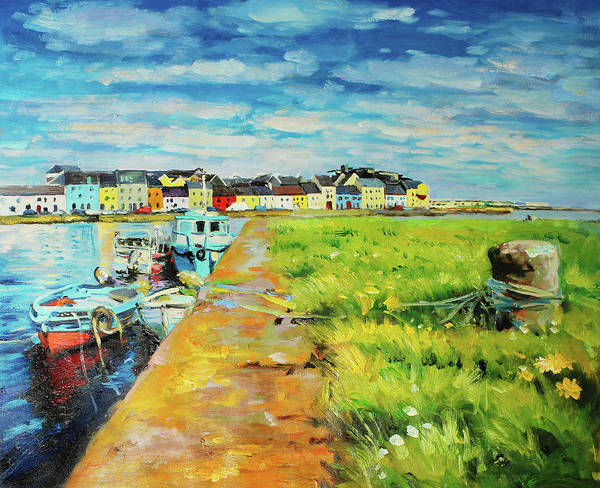 Wall Art - Painting - Boats Moored At The Claddagh by Conor McGuire