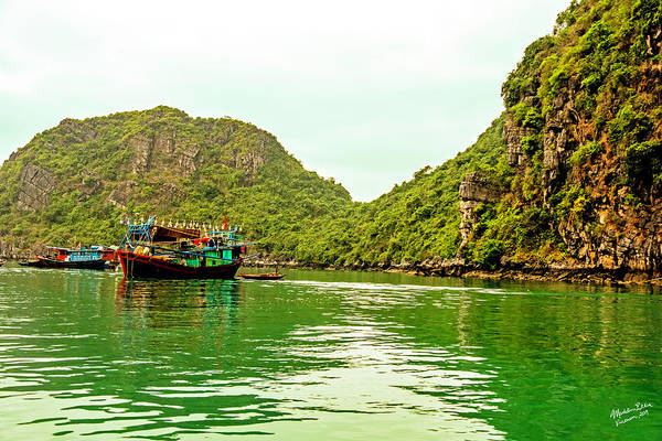 Wall Art - Photograph - Boats On Halong Bay, Vietnam by Madeline Ellis