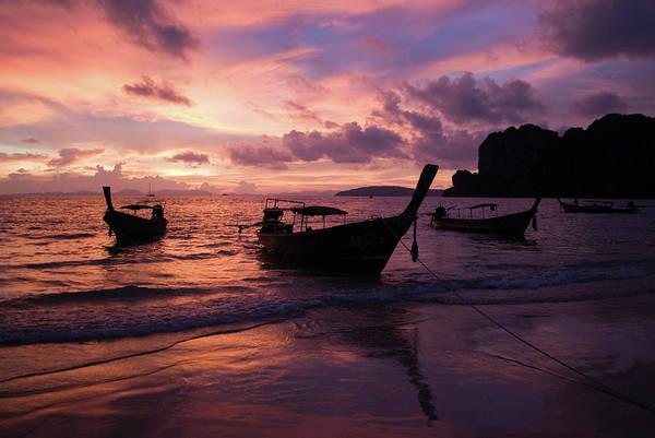 Phi Photograph - Boats On Ko Phi Phi Island by Essai