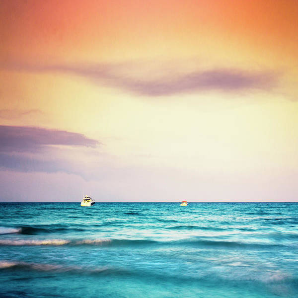 Photograph - Boats On The Mediterranean by Dirk Wuestenhagen